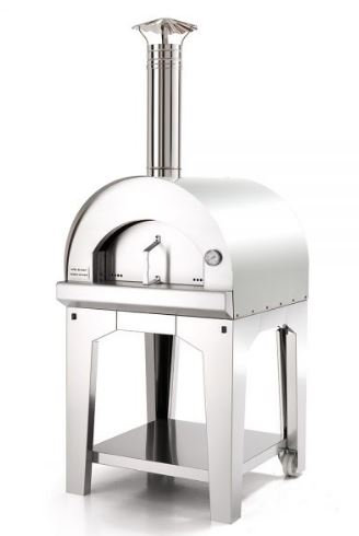 Fontana Margherita Wood Fired Oven Stainless Steel With Cart
