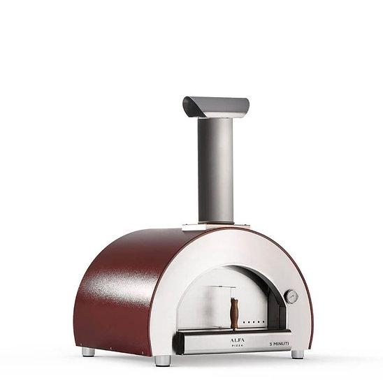 Alfa 5 Minuti Wood-Fired Oven in Red (FX5MIN-LROA-T)