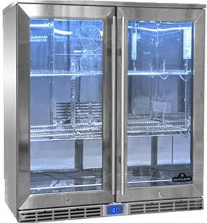 Napoleon Commercial Grade Outdoor Beverage Fridge, Double Door  (NFR2100DGL-GB)