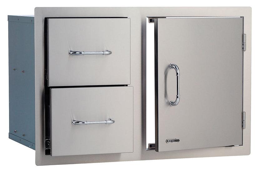 Bull Twin Drawer & Door Combo (76cm) (25876)