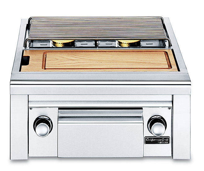 Lynx Built-In Double Side Burner with Cutting Board and Drawer (CSB2PC)