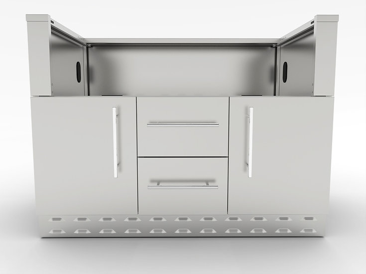 """Sunstone Cabinet for 42"""" Hybrid Charcoal Grill (SAC46CGDC)"""