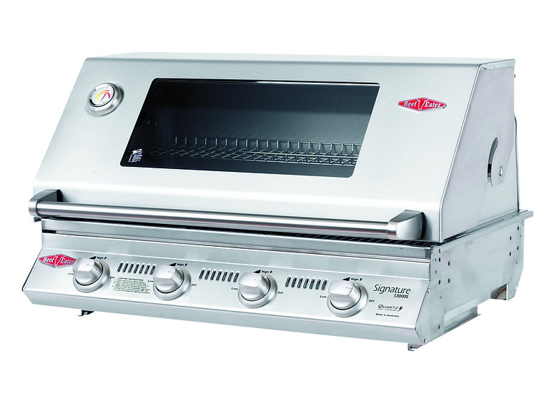 BeefEater 4 Burner S3000SS 816mm Built-in Gas Grill (Stainless Cook Pack)