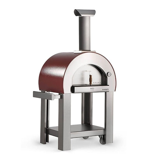 Alfa Wood-Fired Oven 5 Minuti with Base in Copper