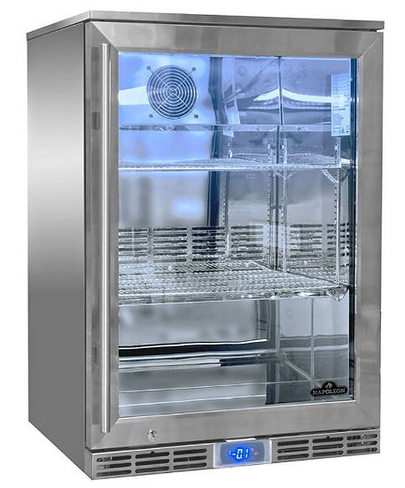Napoleon Outdoor Fridge, 135L, Left Door Glass NFR135OLGL-GB