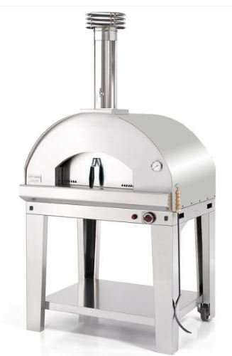 Fontana Mangiafuoco Gas Fired Oven with Trolley (Mangiafuocco_Cart_Gas_SS)