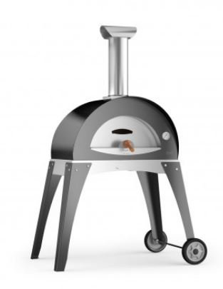 Alfa Ciao Wood Fired Oven with Cart in Grey (FXCM-LGRI)