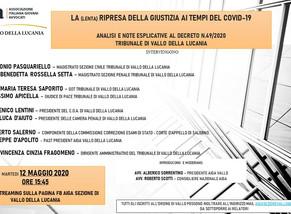 """La """"lenta"""" ripresa: commenti al Decreto-Linee Guida del Tribunale di Vallo della Lucania"""