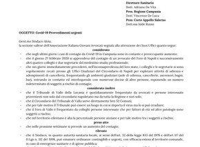 Richiesta di provvedimenti urgenti - Covid19