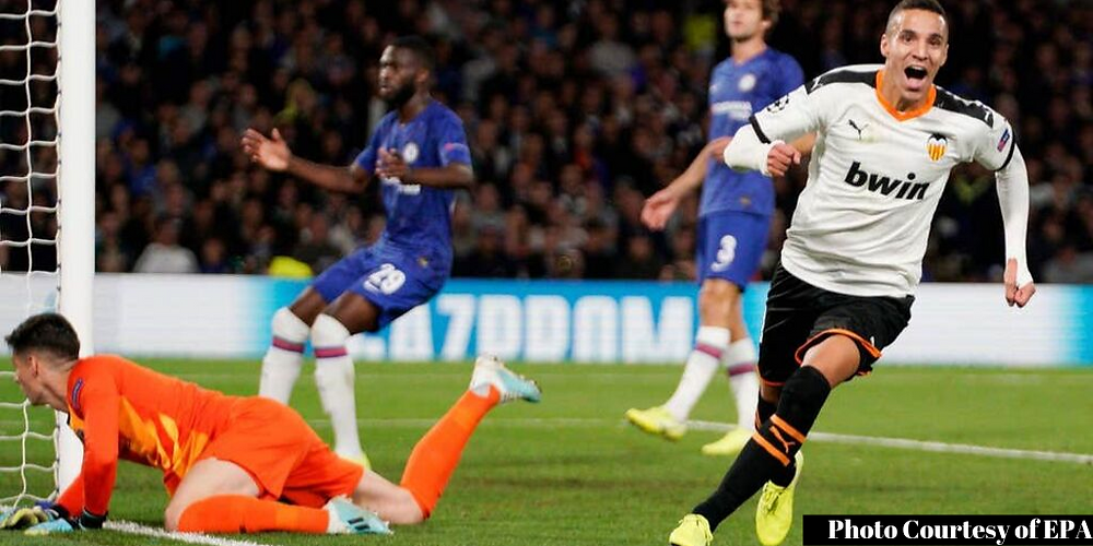 Rodrigo scores winner against Chelsea in Champions League