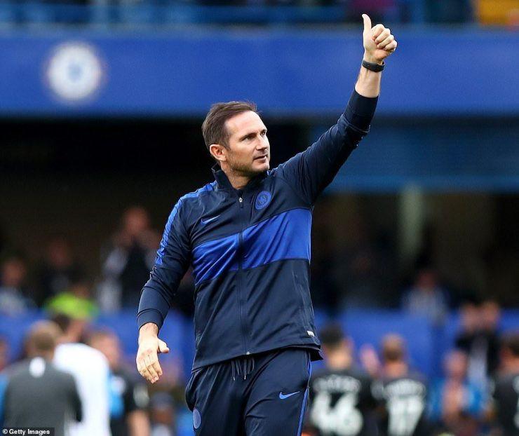 Frank Lampard salutes Chelsea fans at Stamford Bridge