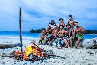 Surf Paradise Boats Beach Bond fire
