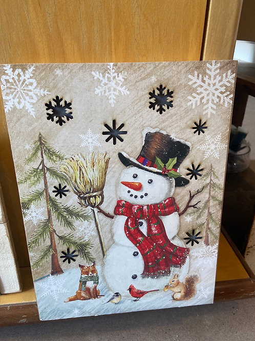 Snowman picture light up