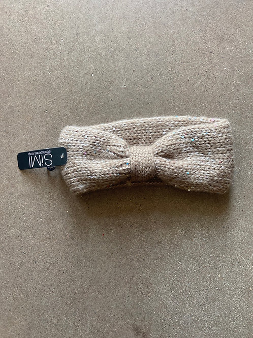 Winter bow headband