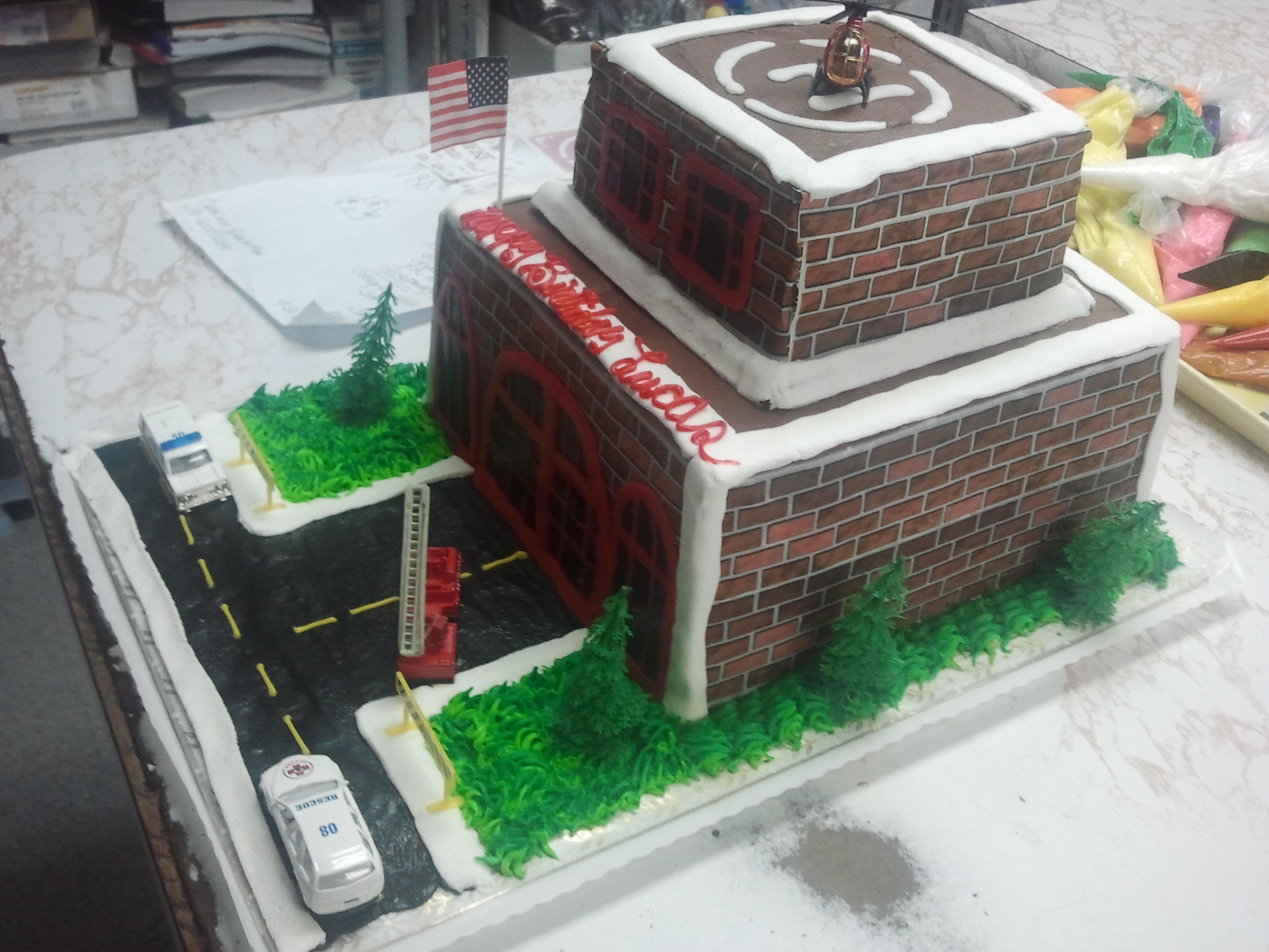 Brown Building Cake