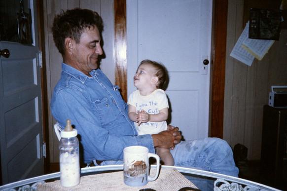 John and baby, Hallie