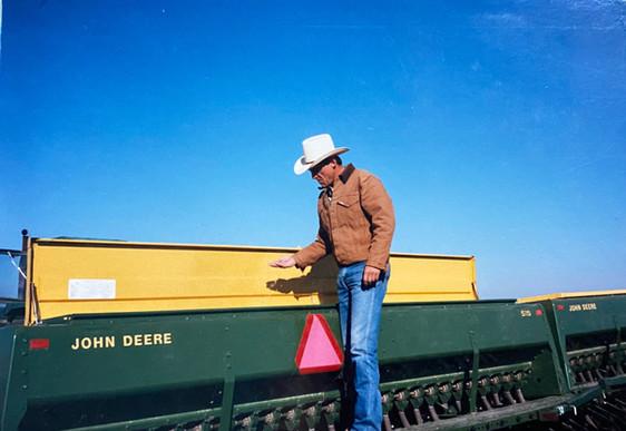 John inspects equipment