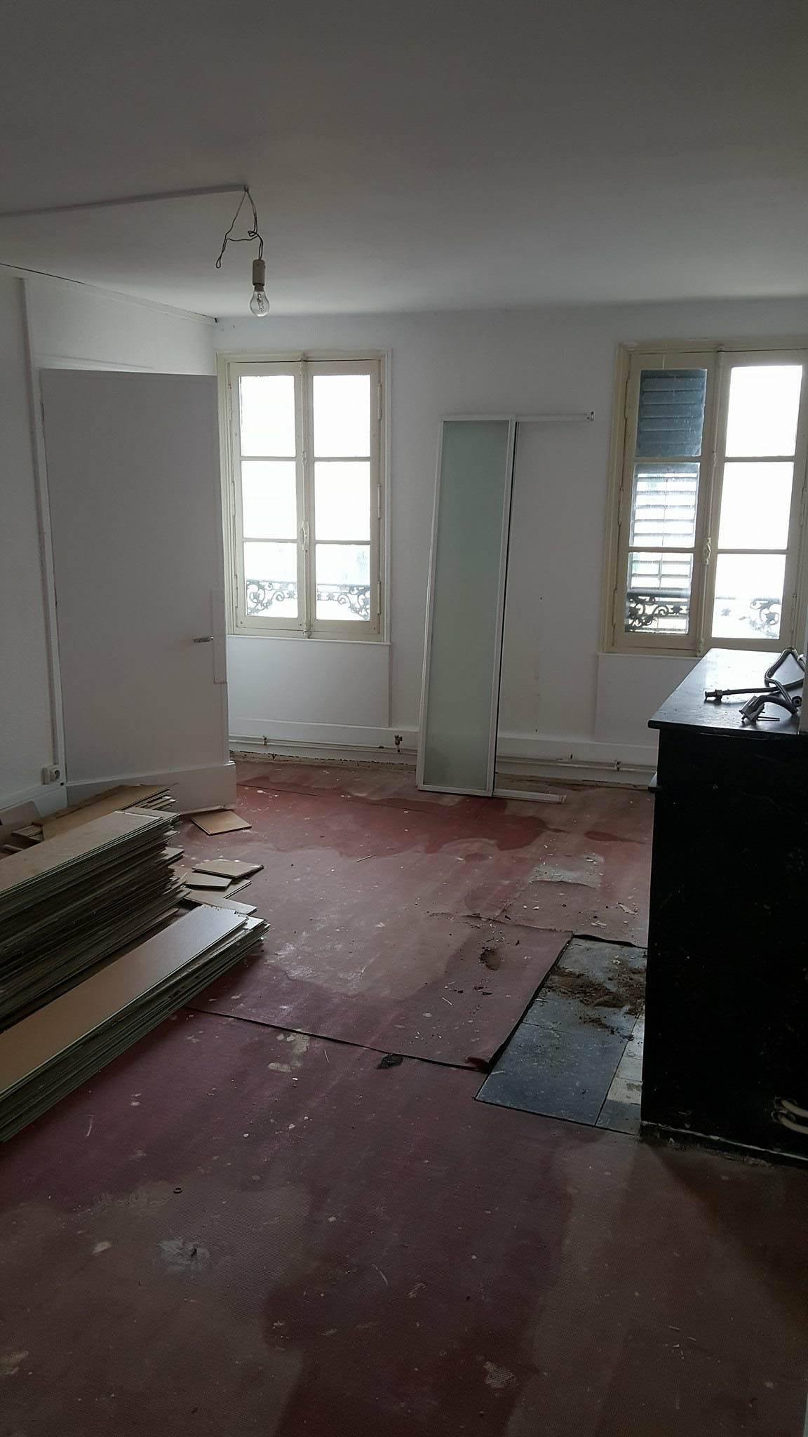 Chambre T2 en travaux