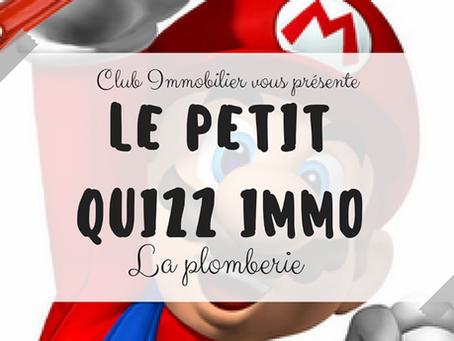 JOUR 5 : LE PETIT QUIZZ IMMO - TRAVAUX -La Plomberie