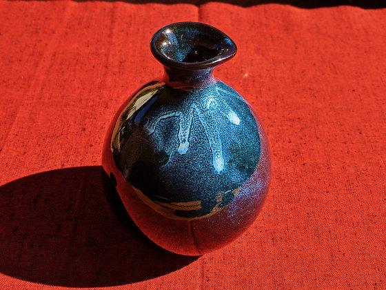 Aizu-Hongō Ceramics - sake flask with 4 cups
