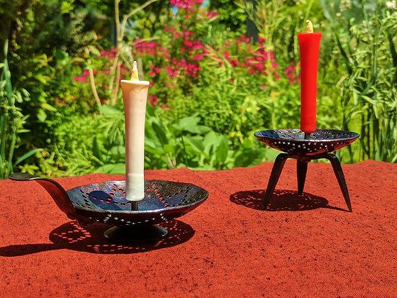 Izumo steel candle holder