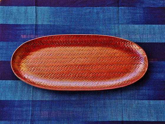 Rantai Lacquerware - long serving plate