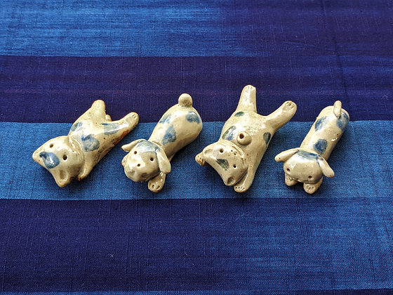 Iwami Ceramics - animal chopstick rests (set of 4)