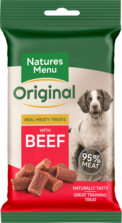 Real Meaty Treats 60g with Beef
