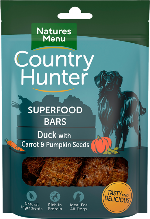 Duck with Carrot + Pumpkin Seeds Superfood Bars