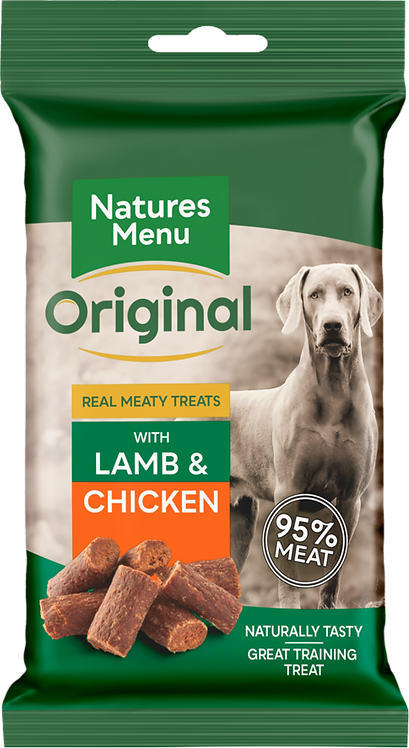 Real Meaty Treats 60g with Lamb + Chicken