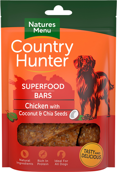 Chicken with Coconut + Chia Seeds Superfood Bars