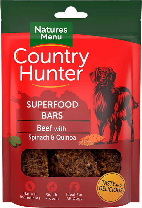 Beef with Spinach & Quinoa Superfood Bars