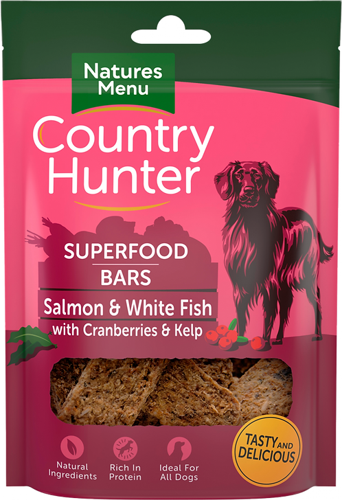 Salmon + White Fish with Cranberries + Kelp Superfood Bars