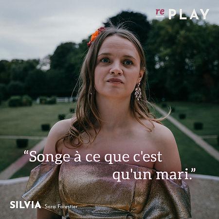 Replay_Sara Forestier est Silvia
