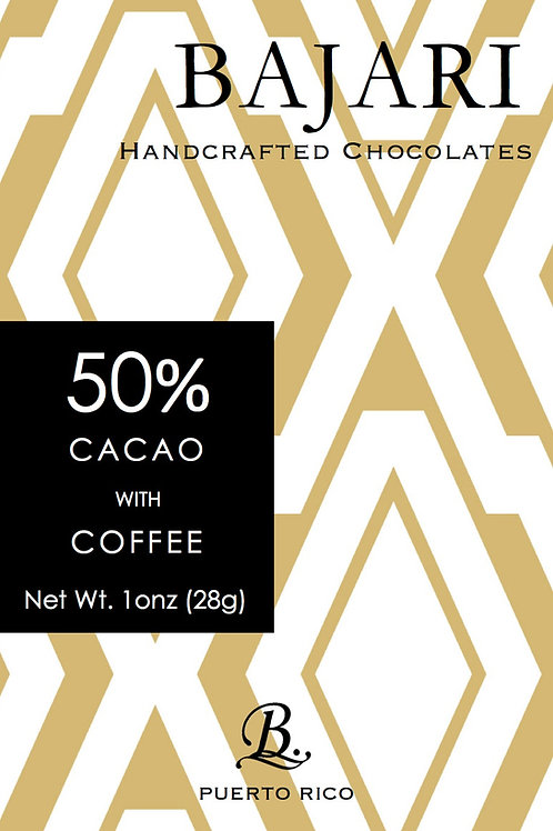 50% Cacao with Puerto Rican Coffee