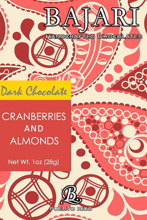 Dark Chocolate with Cranberries and Almonds