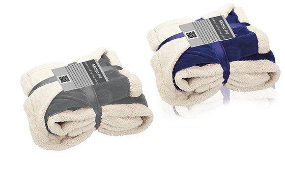 """שייפ - שמיכה מפנקת עשוי שכבת קורל ושכבת צמר גודל 120X150 ס""""מ"""