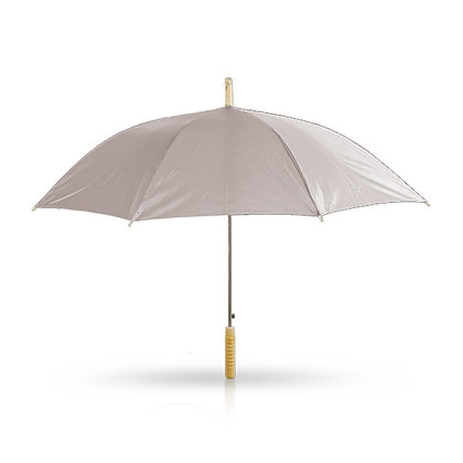 שואו - מטרייה עם מוט מתכת,עם ידית אחיזה מעץ 21 אינץ'