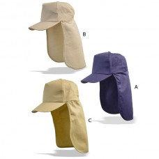 """כובע """"ליגיונר"""" להגנה מירבית מקרני השמש"""