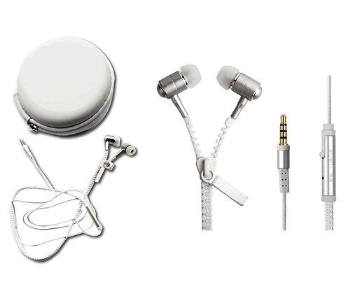 """ריץ-רץ - אוזניות איכותיות ממתכת, חיבור 3.5 מ""""מ, אריזה בנרתיק PVC."""