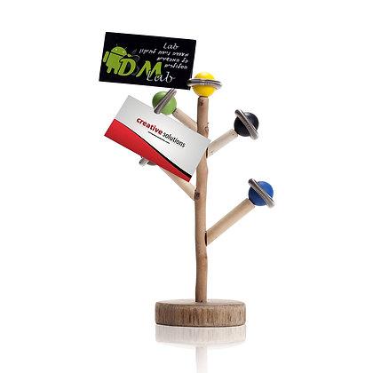 """אקליפטוס - מעמד ממו שולחני בעיצוב עץ טבעי עשוי עץ 24.50 ס""""מ במארז מתנה"""