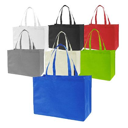 """אקולוגי - תיק אל בד לקניות וכנסים עובי בד 100 גרם 45*13*34 ס""""מ"""