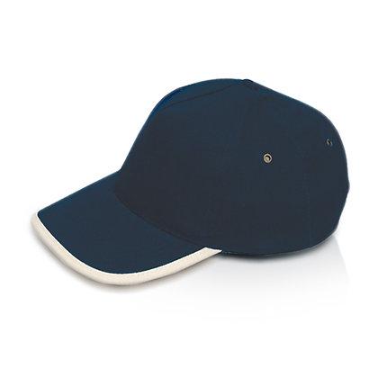 טורינו - כובע מצחיה 5 פאנל כותנה סרוקה סגר מתכת
