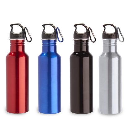 טרים- בקבוק שתיה מאלומיניום עם ציפוי פנימי מיוחד להגנה על המשקה. לולאת מתכת לתפי