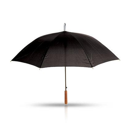 מלודי - מטריה עם מוט מתכת, ידית אחיזה מעץ 25 אינץ'
