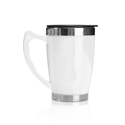 """קרמה  - כוס טרמית בשילוב נירוסטה 450 מ""""ל"""