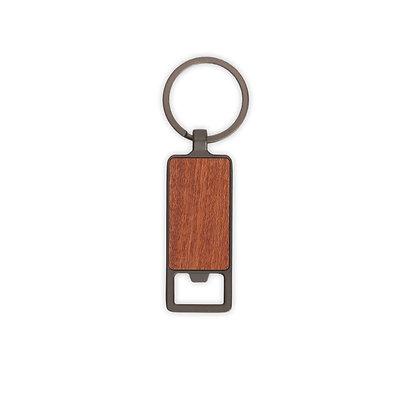 """קורני - מחזיק מפתחות פותחן בקבוקים עשוי מתכת בשילוב עץ 2.5X6.4 ס""""מ"""