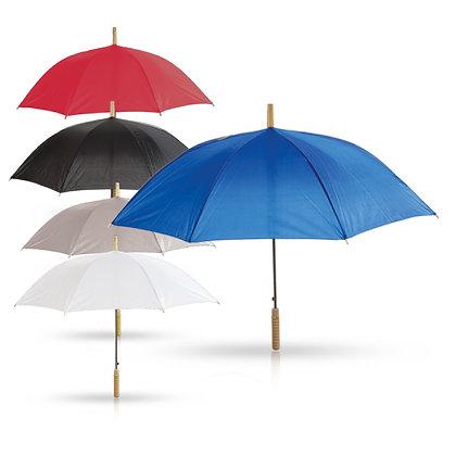 סולו - מטריה עם מוט מתכת,ידית אחיזה מעץ 23 אינץ'
