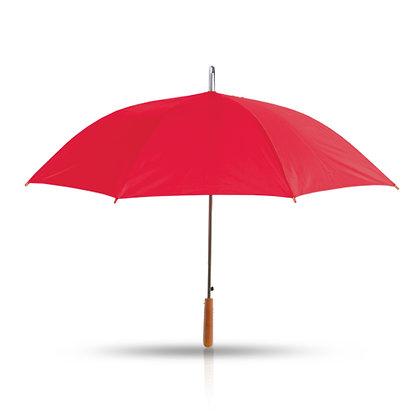 ג'מבו - מטריה עם מוט מתכת,ידית אחיזה מעץ 27 אינץ'