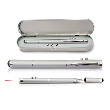 טאבלט - מצביע לייזר עם פנס לד עט כדורי ועט TOUCH במארז מתנה